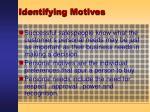 identifying motives42