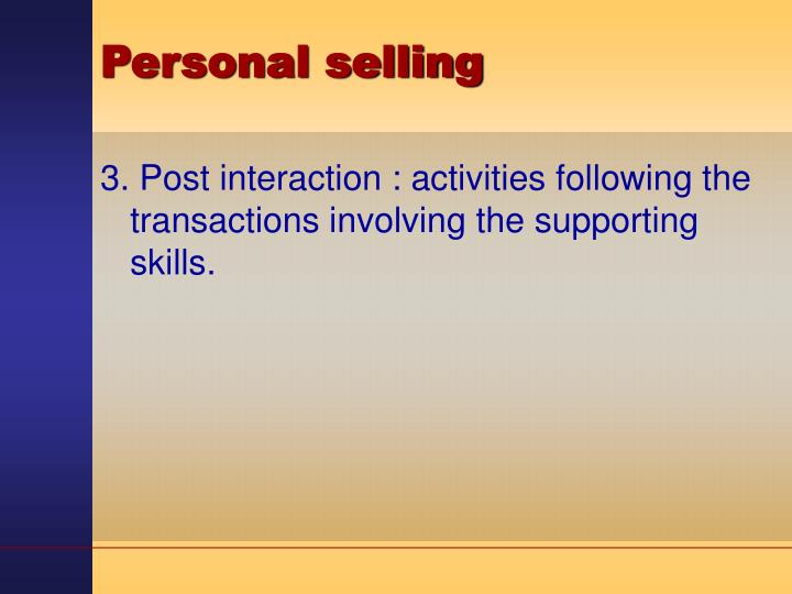 Personal selling3