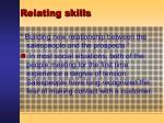 relating skills