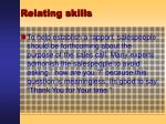 relating skills37