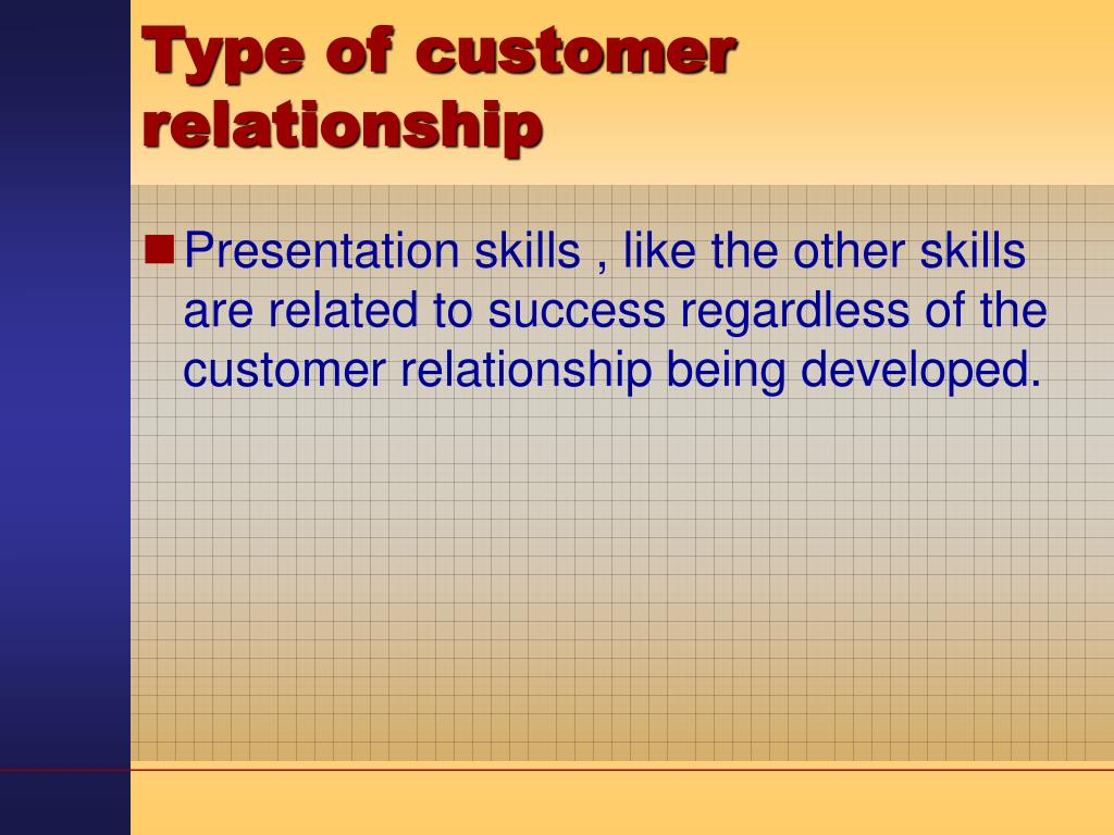 Type of customer relationship