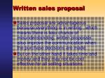written sales proposal54