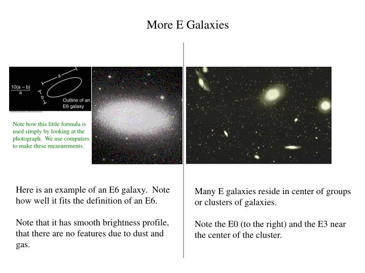 More E Galaxies