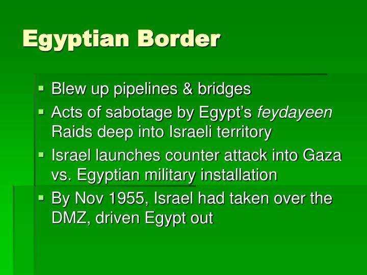 Egyptian Border