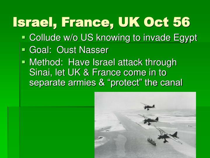 Israel, France, UK Oct 56
