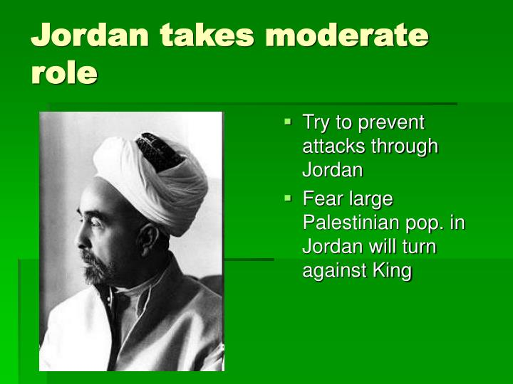 Try to prevent attacks through Jordan
