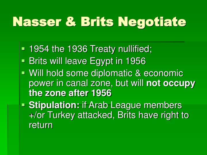 Nasser & Brits Negotiate