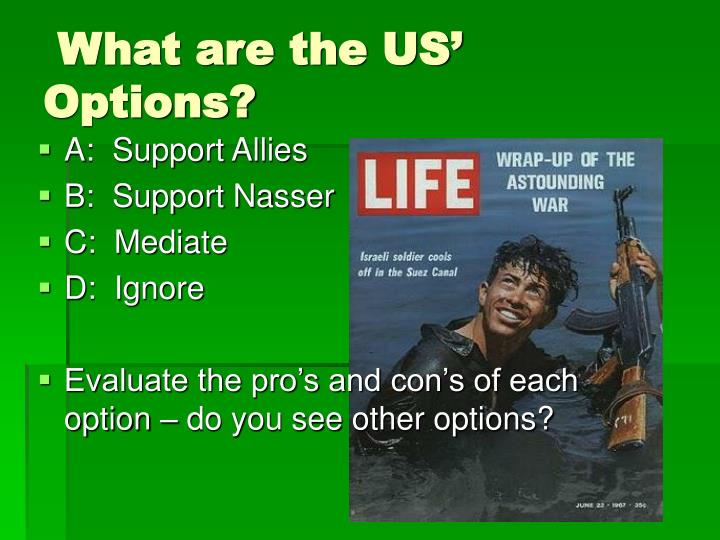 What are the US' Options?