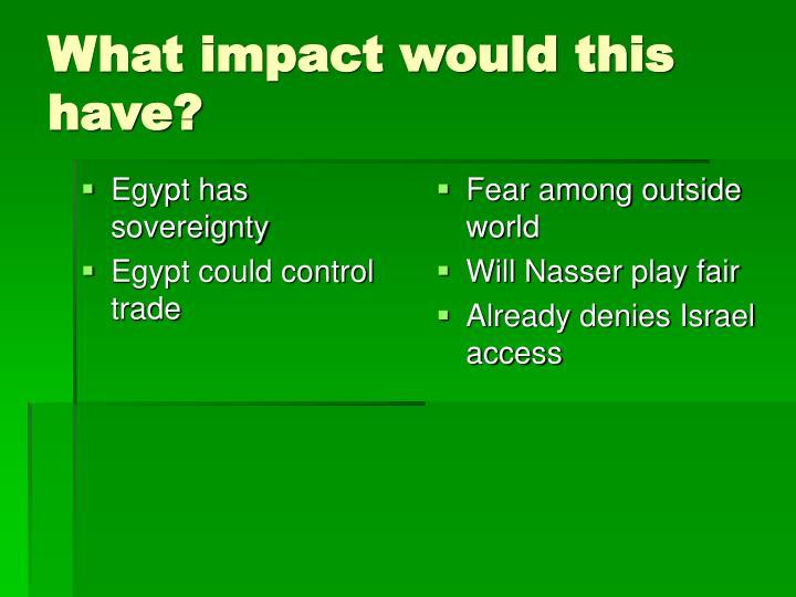Egypt has sovereignty