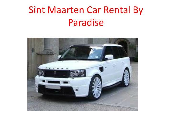 Sint maarten car rental by paradise