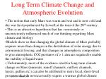 long term climate change and atmospheric evolution