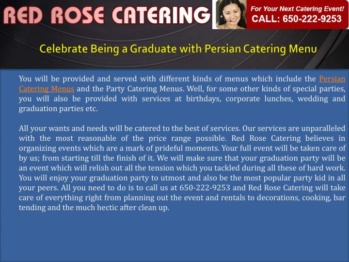 Celebrate being a graduate with persian catering menu1