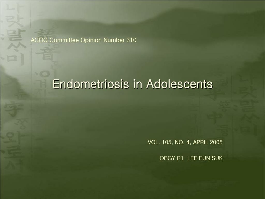 endometriosis in adolescents l.