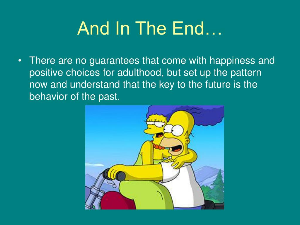 And In The End…
