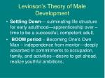 levinson s theory of male development25