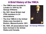 a brief history of the ymca