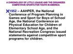 a chronology of little league and the organized competitive sports for youth in america16