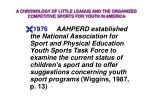a chronology of little league and the organized competitive sports for youth in america19