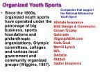 organized youth sports