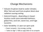 change mechanisms