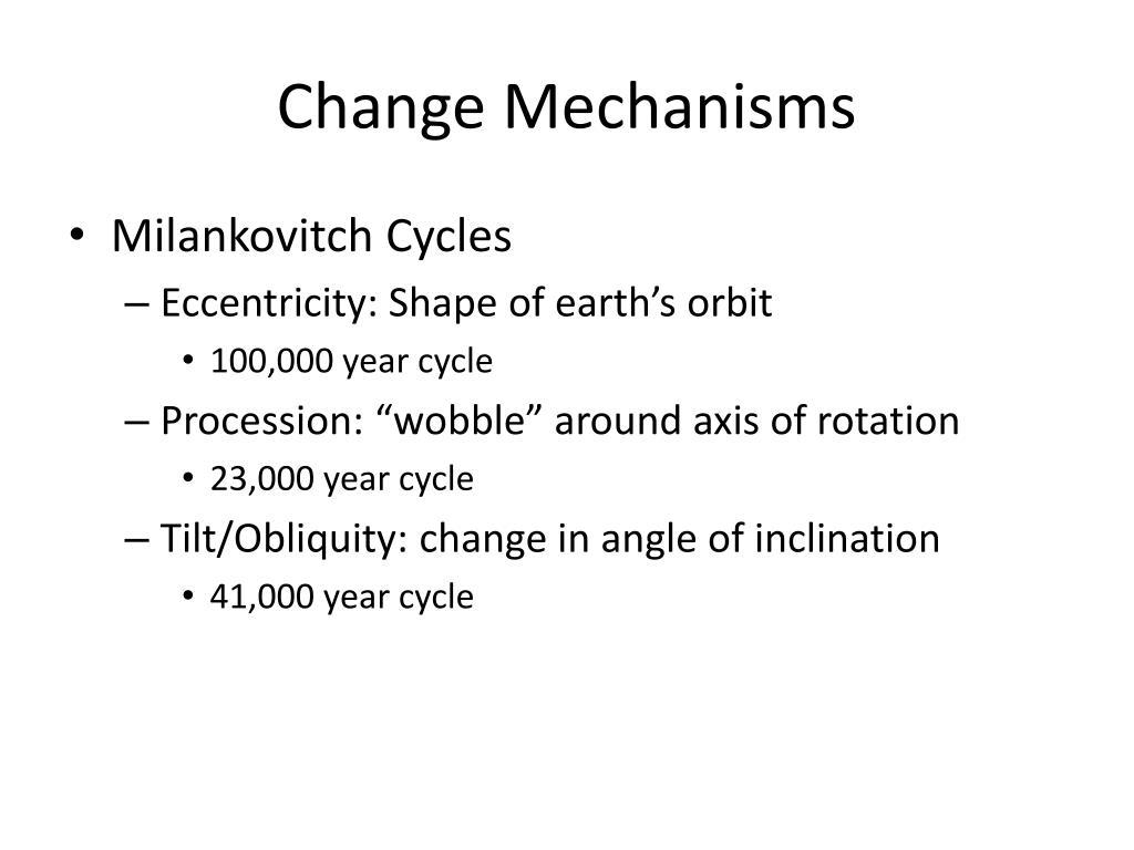 Change Mechanisms