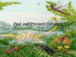 past and present climates