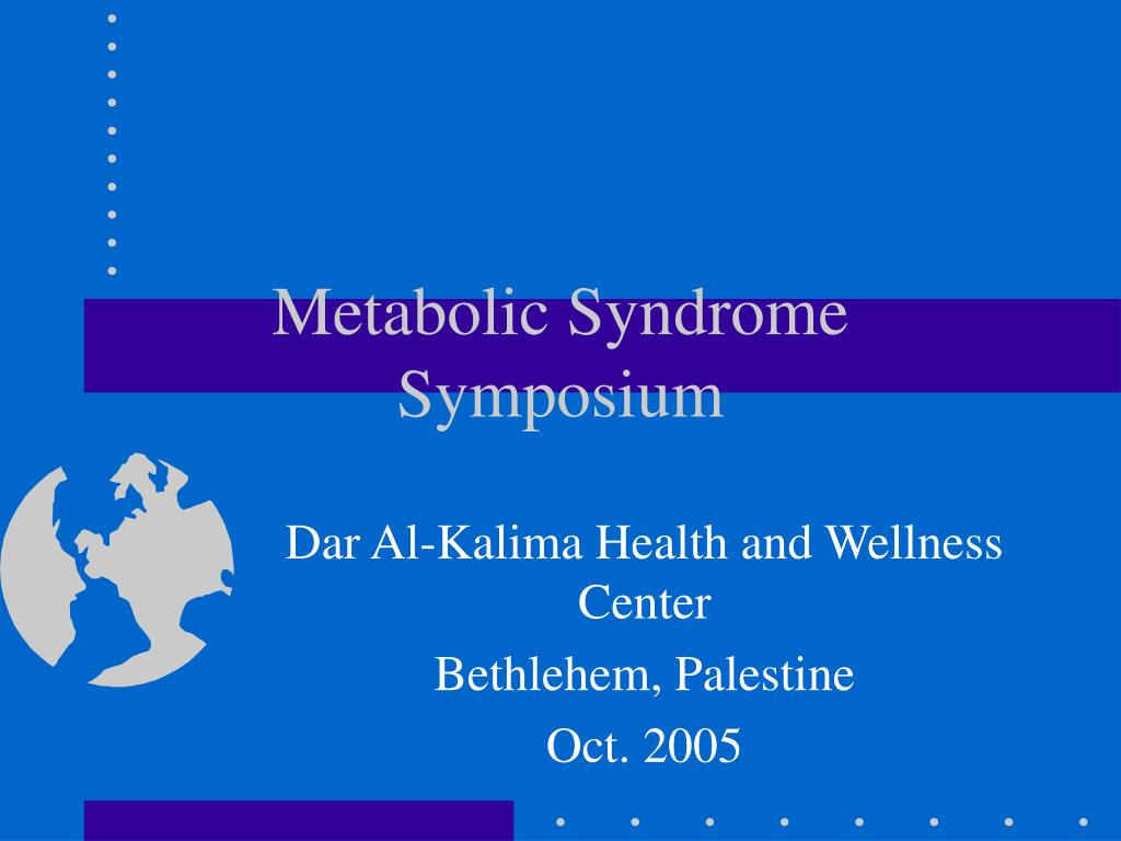metabolic syndrome symposium l.