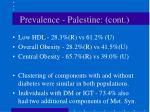 prevalence palestine cont