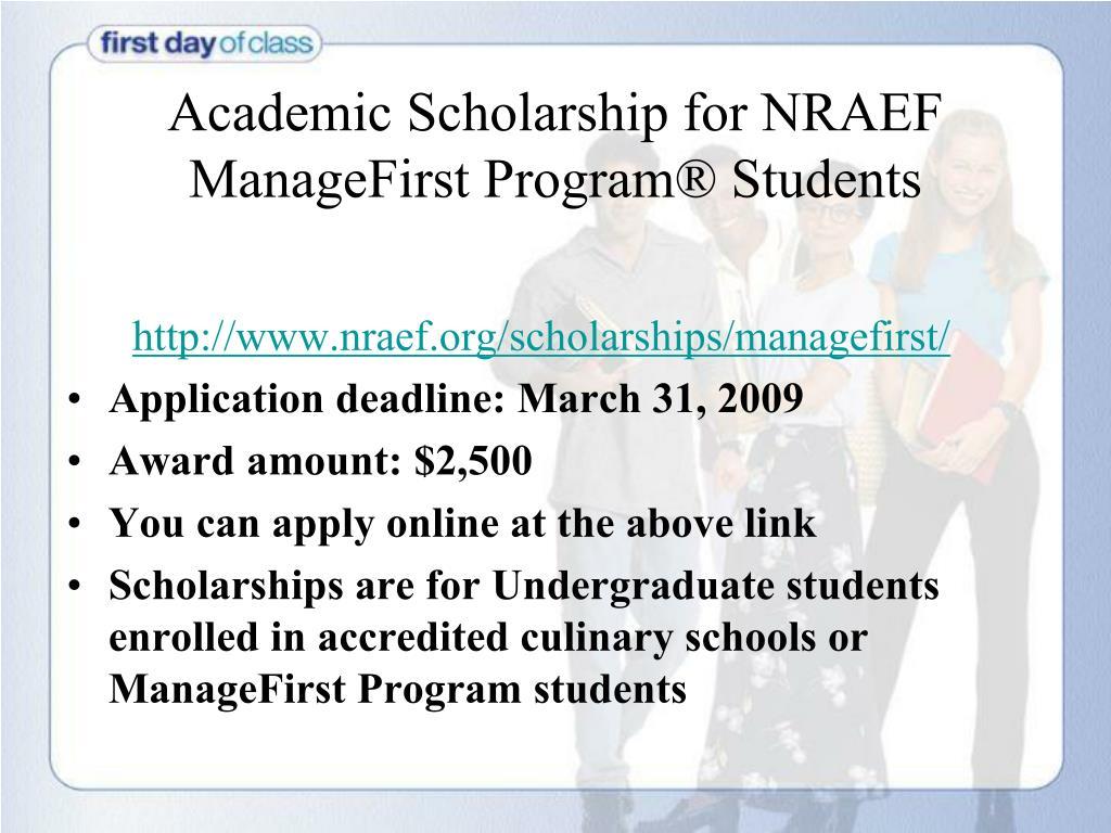 Academic Scholarship for NRAEF
