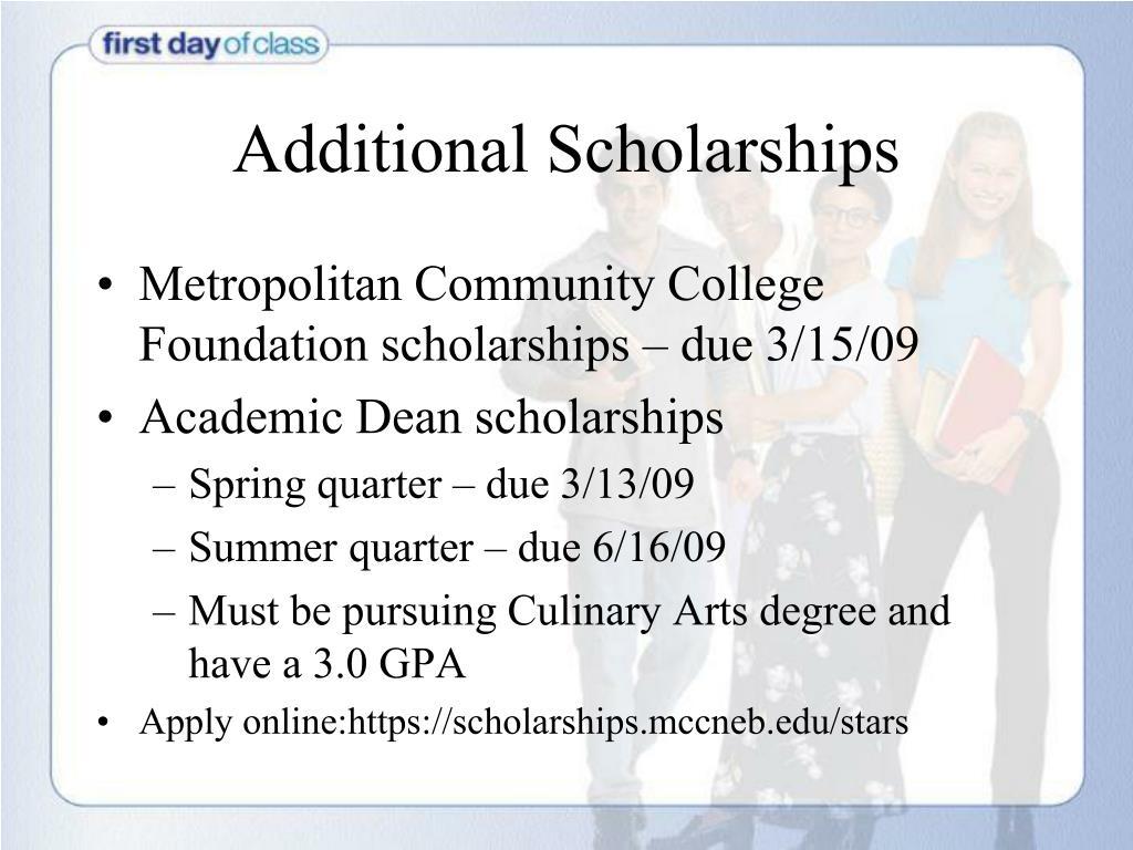 Additional Scholarships