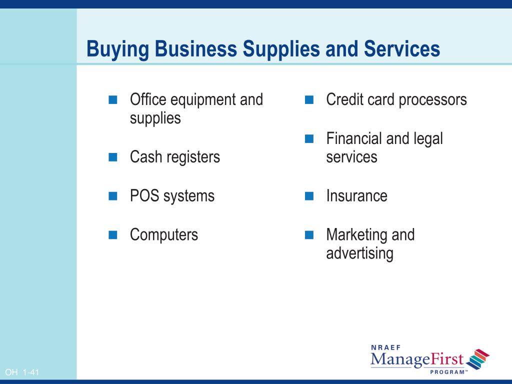 Office equipment and supplies