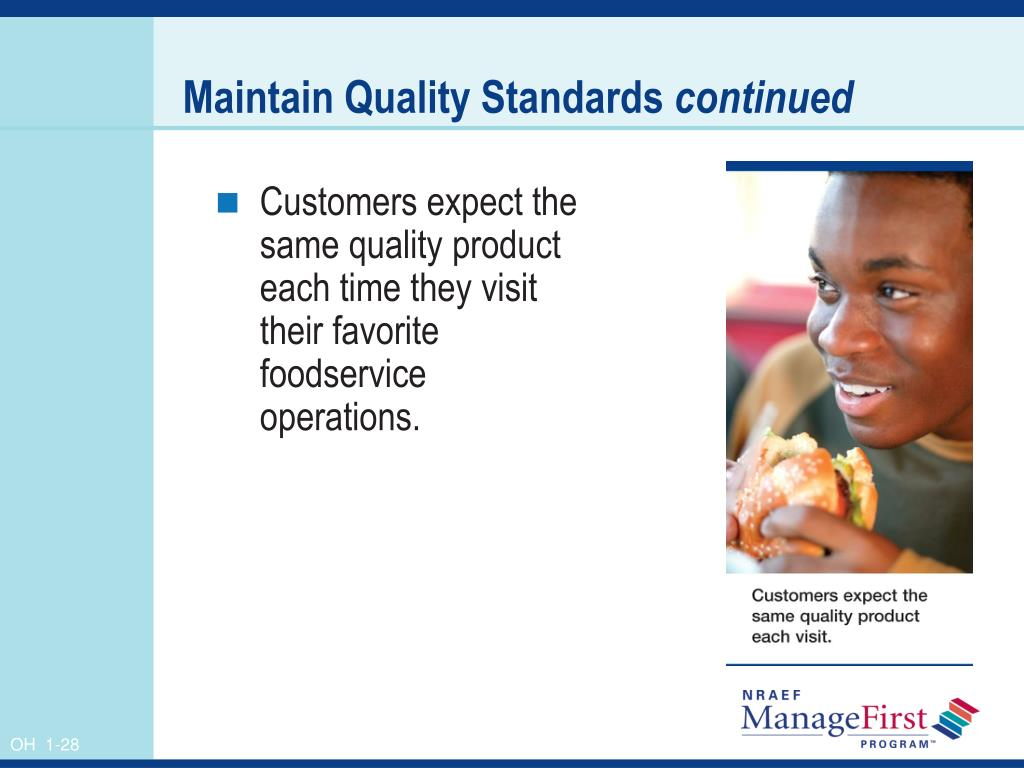 Maintain Quality Standards