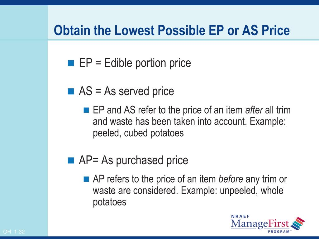 Obtain the Lowest Possible EP or AS Price