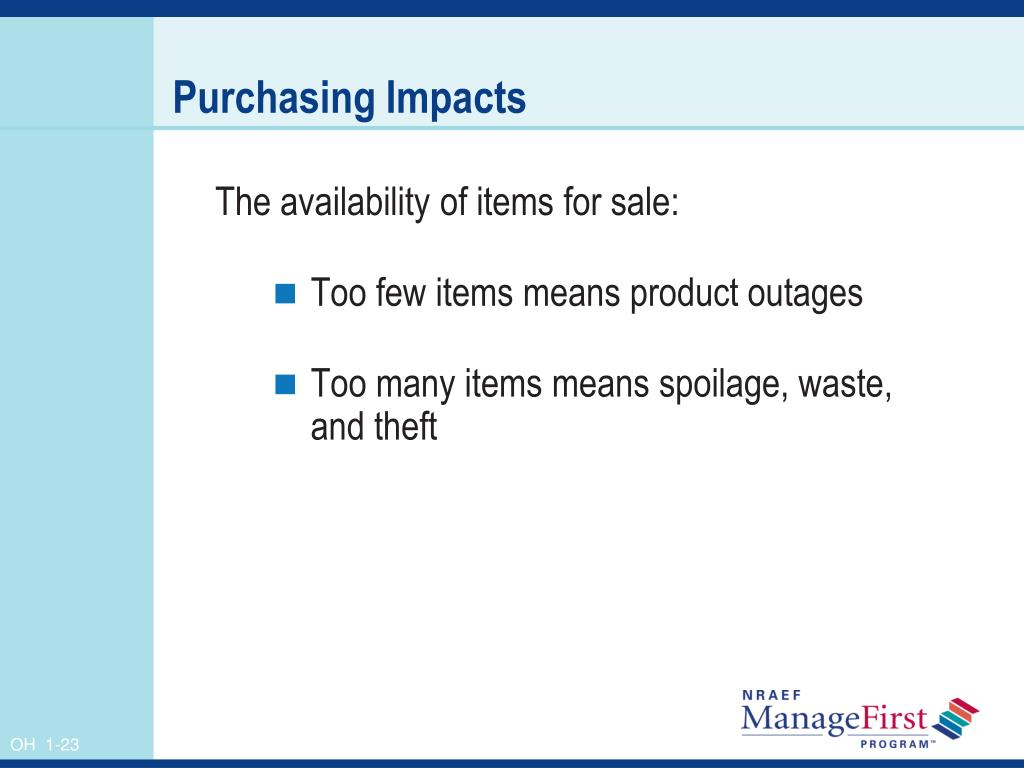 Purchasing Impacts