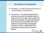 purchasing vs procurement