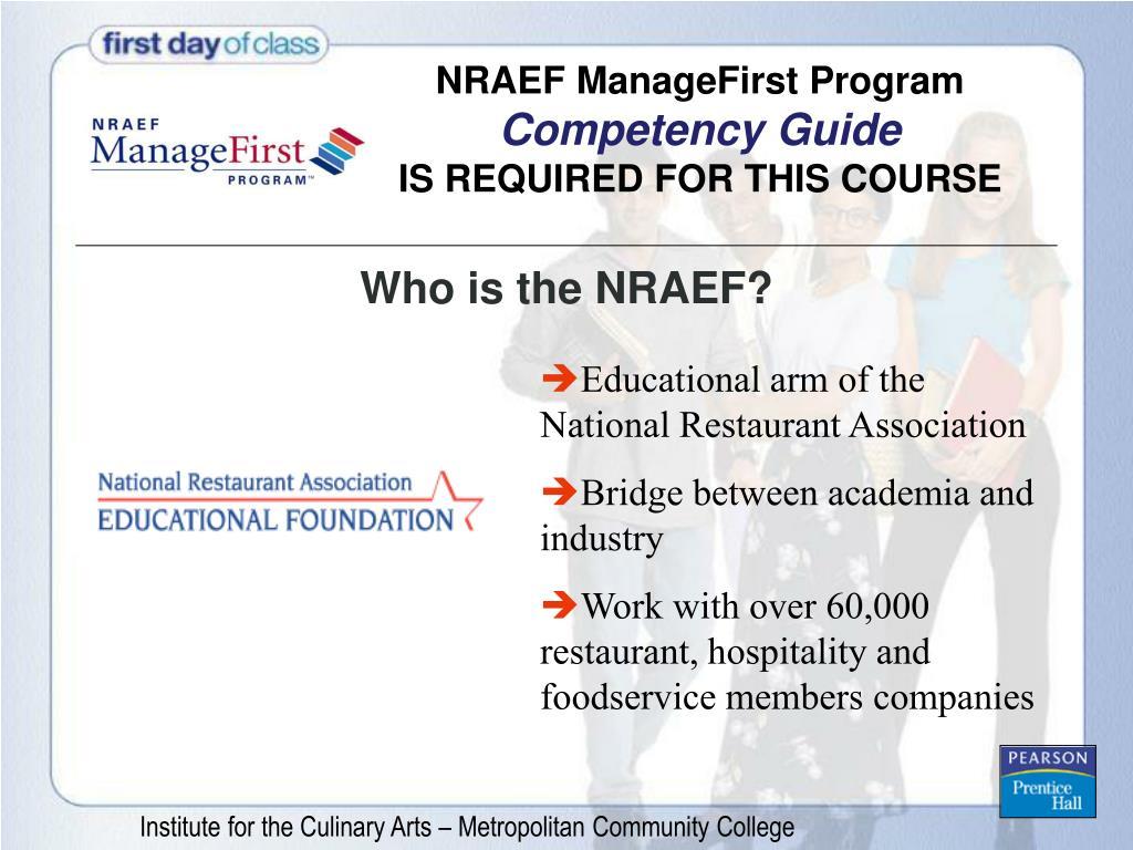 NRAEF ManageFirst Program