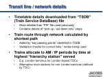 transit line network details