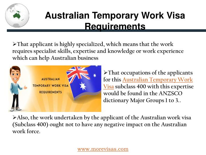 Australian Temporary Work Visa Requirements