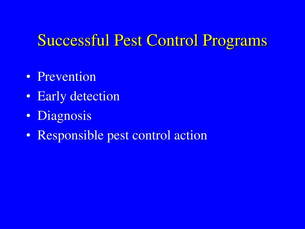 Successful Pest Control Programs