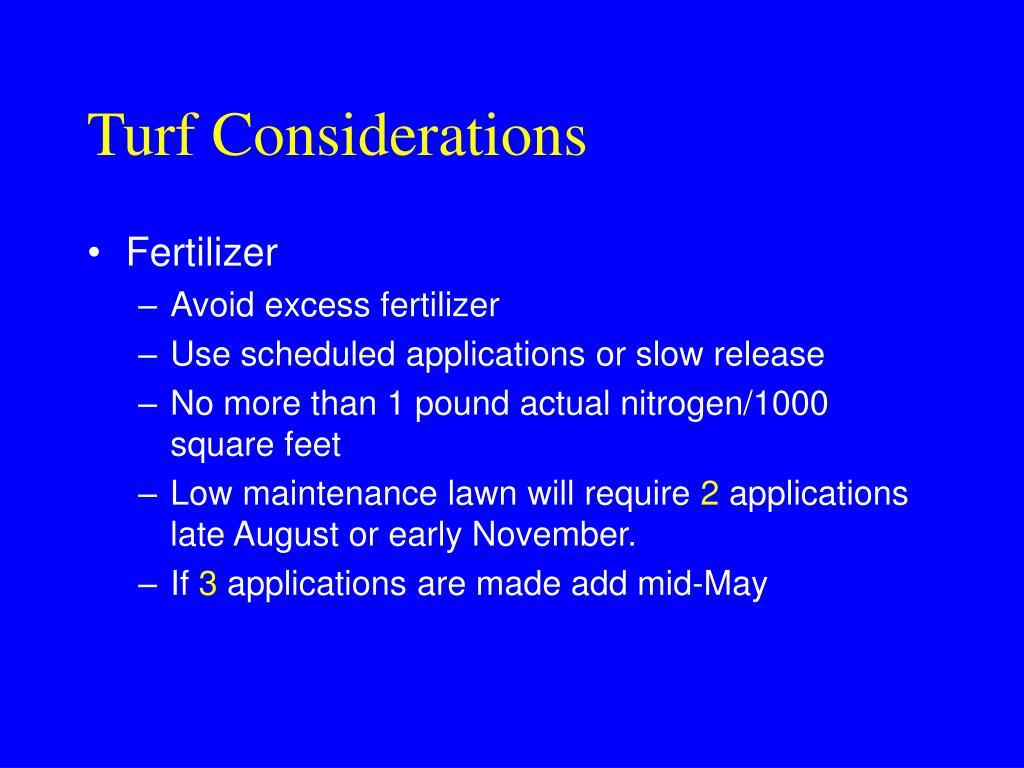 Turf Considerations