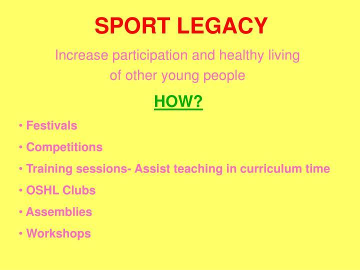 Sport legacy