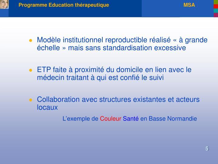 Programme Education thérapeutique                                                    MSA