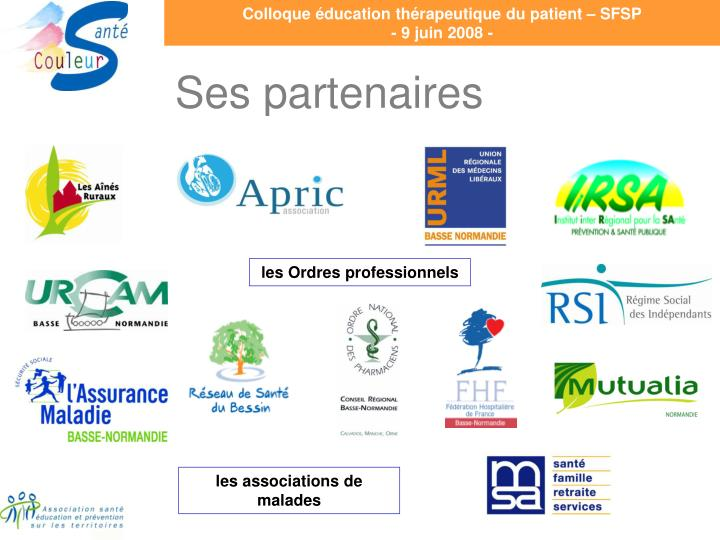 Colloque éducation thérapeutique du patient – SFSP