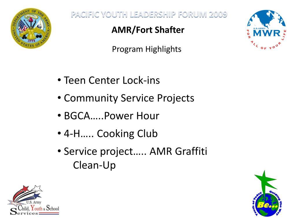 AMR/Fort Shafter