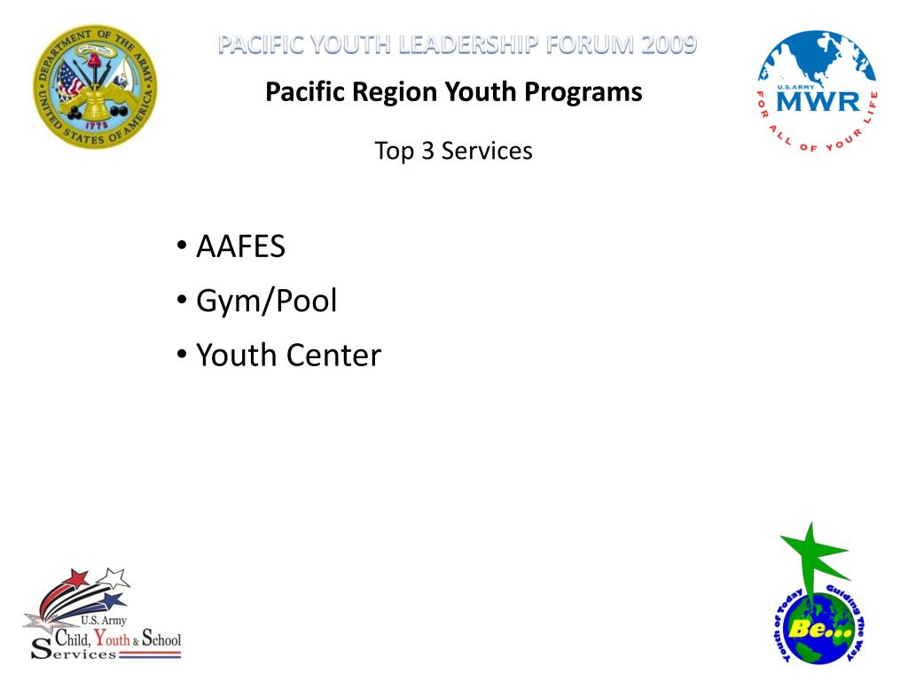 Pacific Region Youth Programs