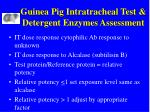 guinea pig intratracheal test detergent enzymes assessment