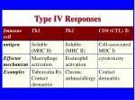 type iv responses