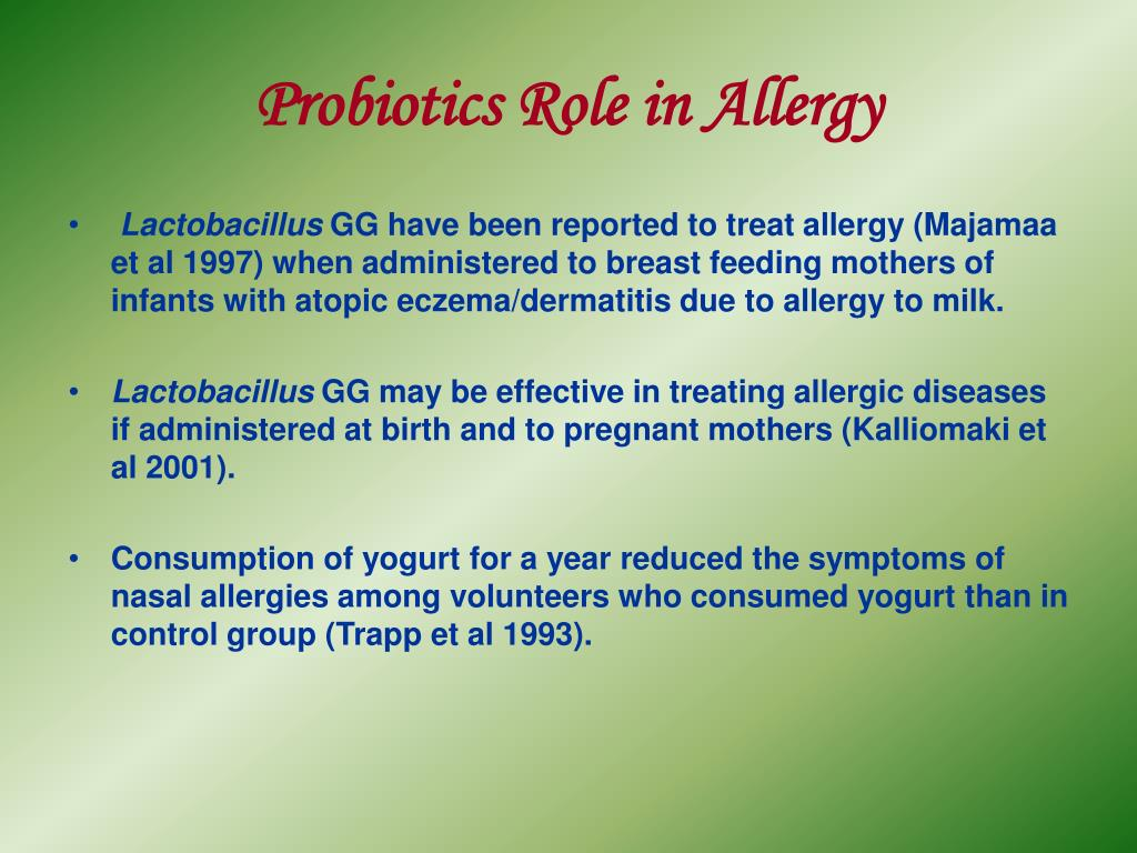 Probiotics Role in Allergy