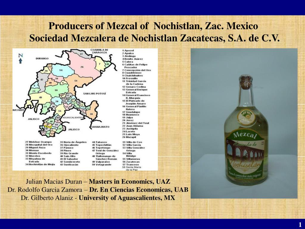 Producers of Mezcal of  Nochistlan, Zac. Mexico