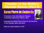 founder of the modern olympic games part 2